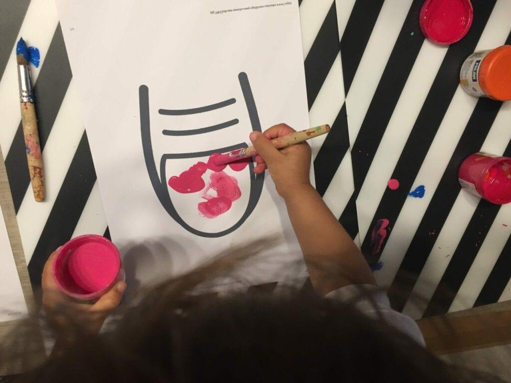 pintar a unha atividade infantil 04