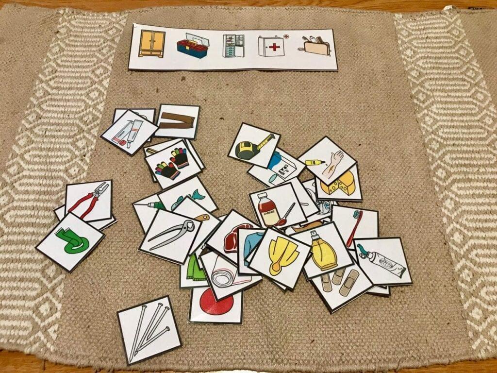atividade classificacao de objetos 07