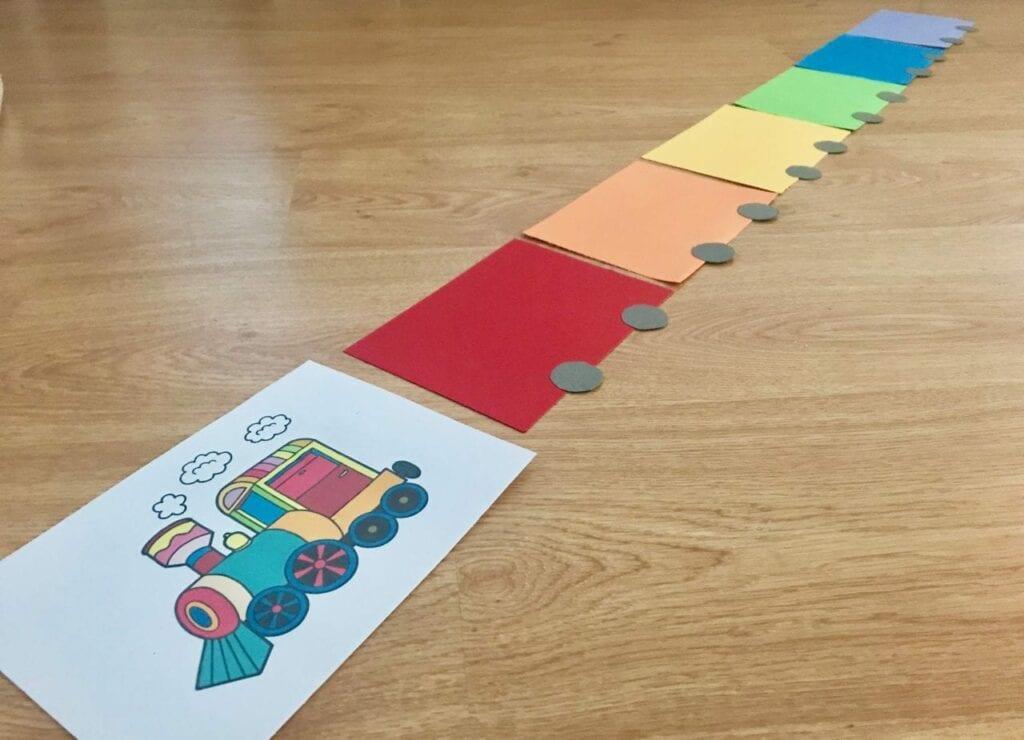 atividade do trem arco iris classificacao de cores 01