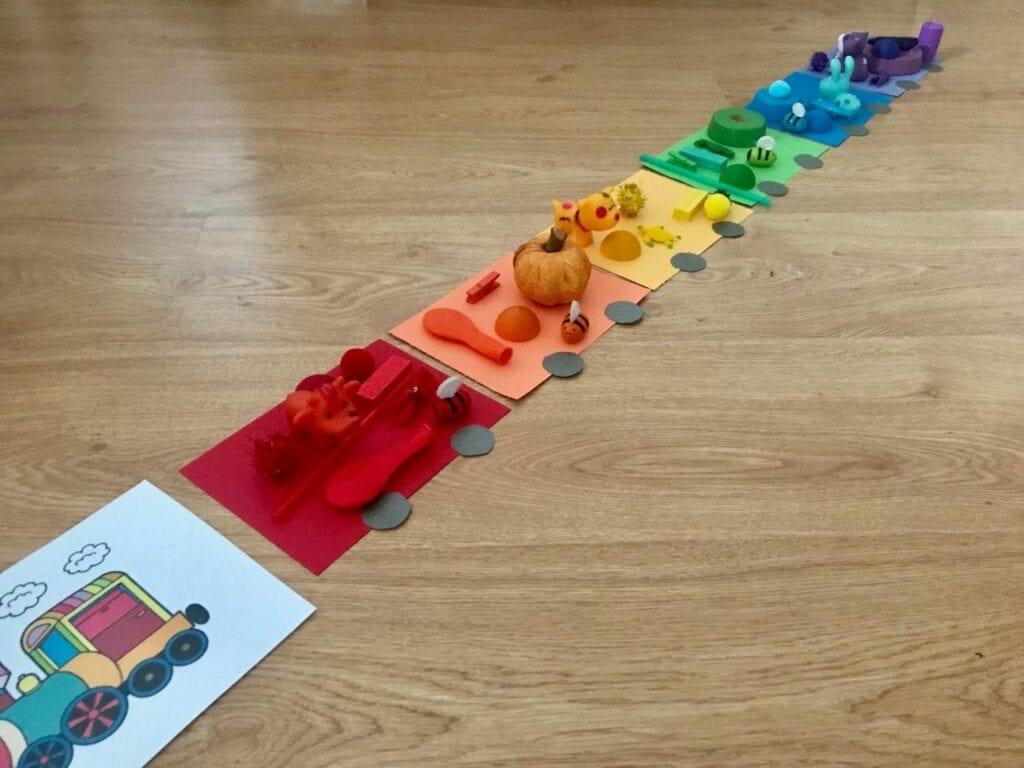 atividade do trem arco iris classificacao de cores 05