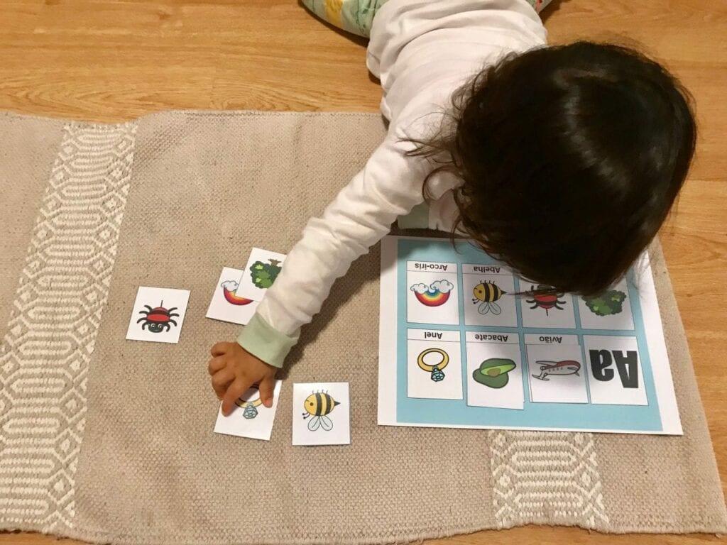 atividades com vogais inspiradas em montessori a 4