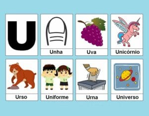 atividades com vogais u
