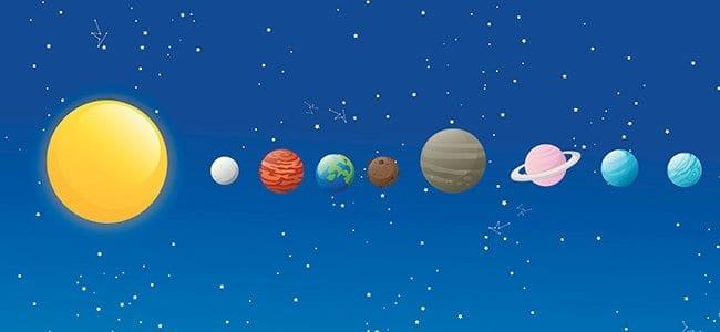 Conto curto sobre o sistema solar