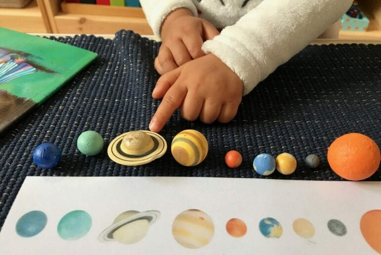 atividade de pareamento sobre o sistema solar 12