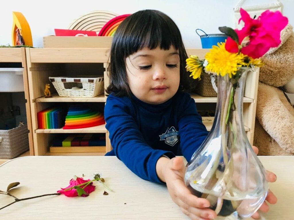 fazer arranjos de flores vida pratica montessori 10