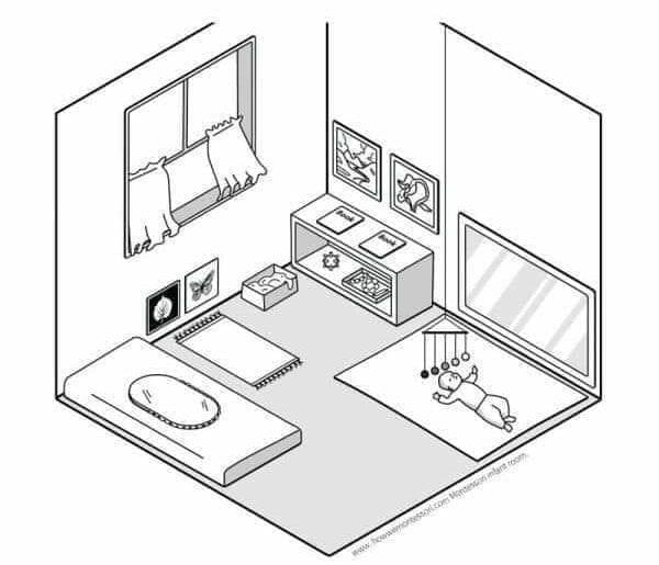 modelo de quarto montessoriano completo