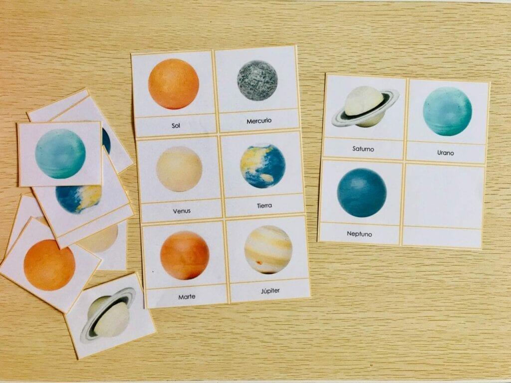pareamento de planetas e o sol 01