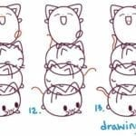 Desenhos kawaii para desenhar e colorir animais fofos