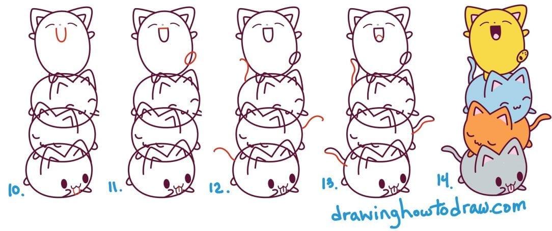 Desenhos Kawaii Para Desenhar E Colorir Animais Fofos Criando