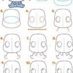 Desenhos kawaii para desenhar e colorir burro