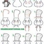 Desenhos kawaii para desenhar e colorir gato com chapeu