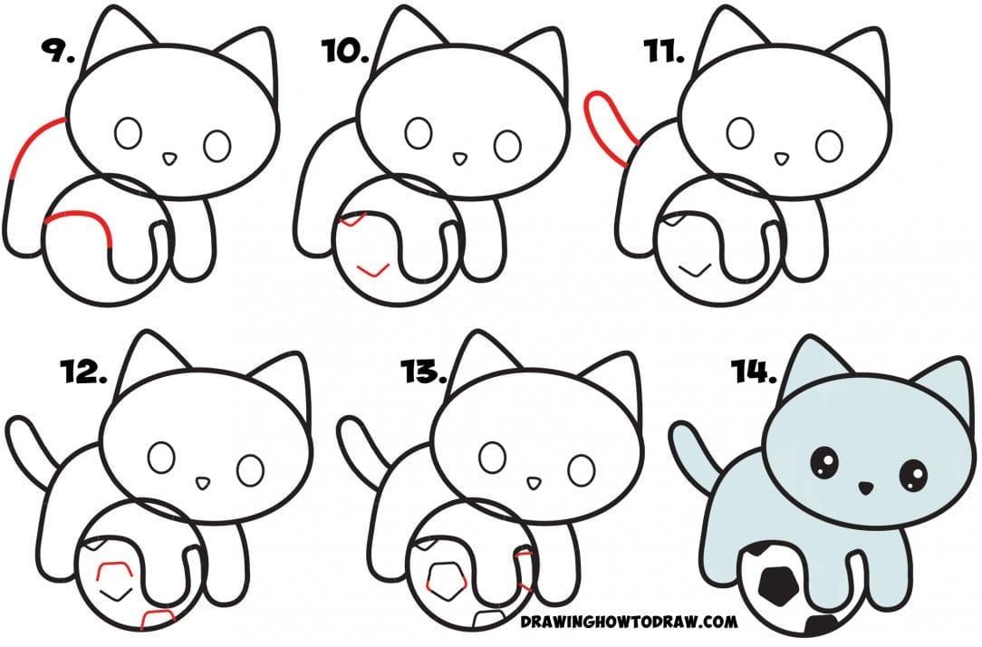 Desenhos Kawaii Para Desenhar E Colorir Gato Fofo Criando Com Apego