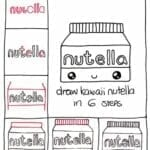 Desenhos kawaii para desenhar e colorir nutela