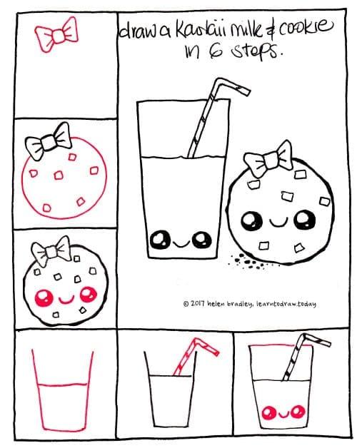Desenhos Kawaii Para Desenhar E Colorir Suco De Frutas