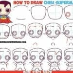 Desenhos kawaii para desenhar e colorir superman