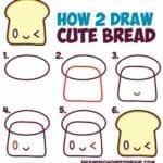 Desenhos kawaii para desenhar e colorir torrada