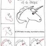 Desenhos kawaii para desenhar e colorir unicornio fofo