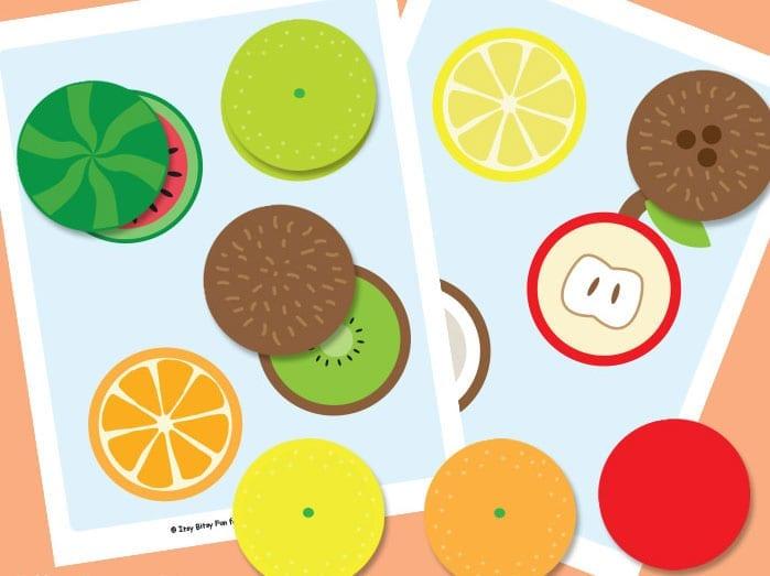 Pareamento de frutas cortadas ao meio 1