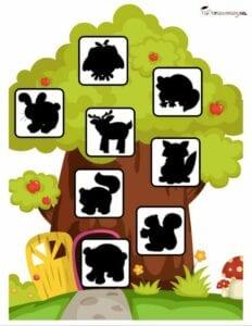 Sombras de animais da granja para criancas 3