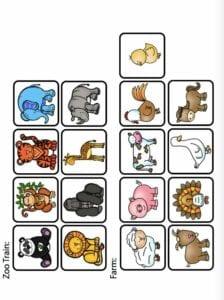 Sombras de animais da granja para criancas 5