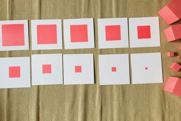 cartoes para usar com a torre rosa montessoriana 01