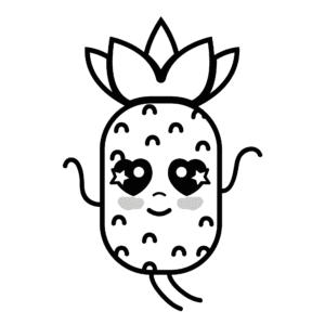 desenhos para colorir kawaii abacaxi