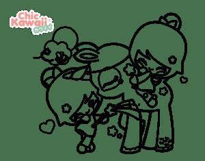desenhos para colorir kawaii amigos 01
