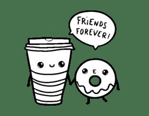 desenhos para colorir kawaii amigos
