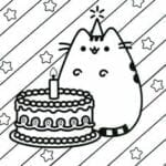 desenhos para colorir kawaii aniversario