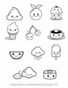 desenhos para colorir kawaii fofos