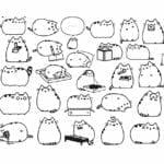 desenhos para colorir kawaii gatinhos