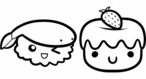 desenhos para colorir kawaii irmaos