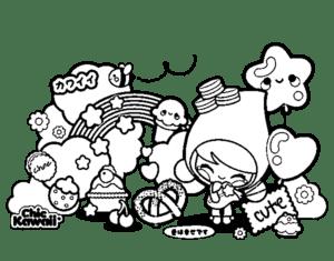desenhos para colorir kawaii personagens