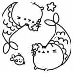 desenhos para colorir kawaii sereia