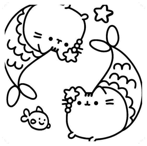 Desenhos Para Colorir Kawaii Sereia Criando Com Apego
