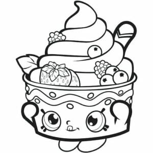 desenhos para colorir kawaii sorvete delicioso