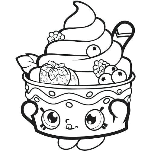 Desenhos Para Colorir Kawaii Sorvete Delicioso Criando Com
