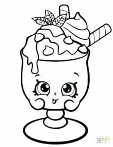 desenhos para colorir kawaii sorvete feliz