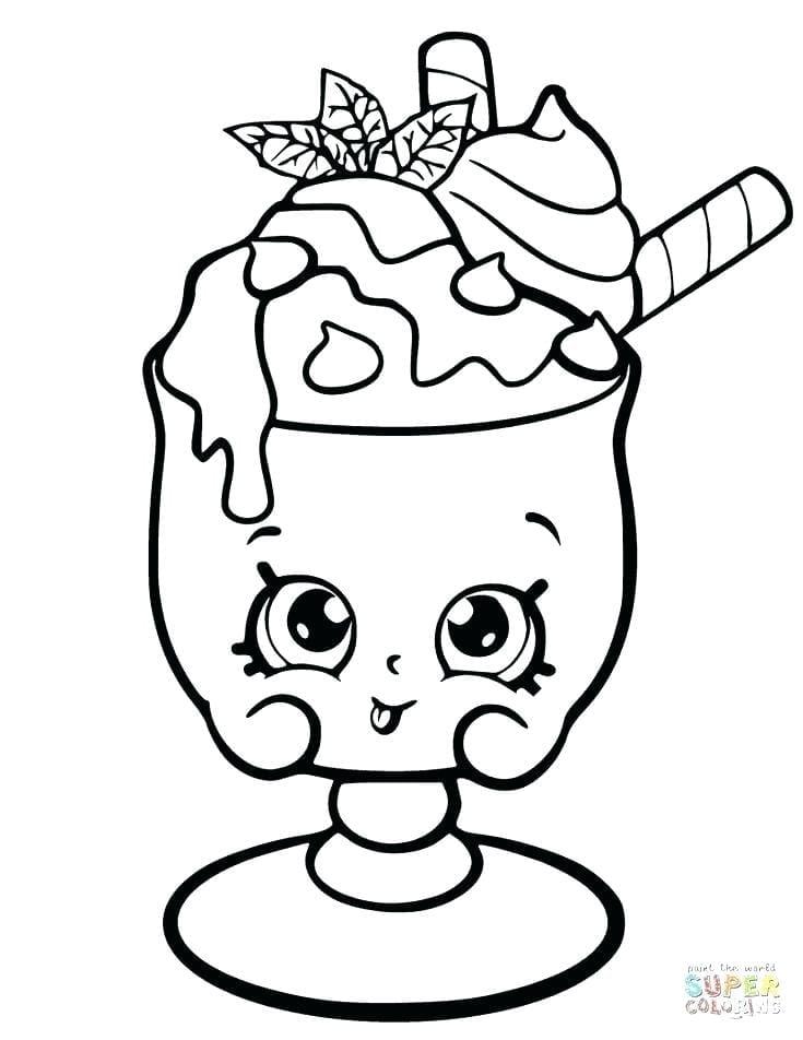 desenhos para colorir kawaii sorvete