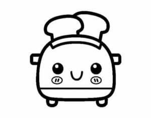 desenhos para colorir kawaii torrada