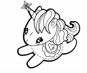 desenhos para colorir kawaii unicornio feliz