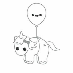 desenhos para colorir kawaii unicornio voando