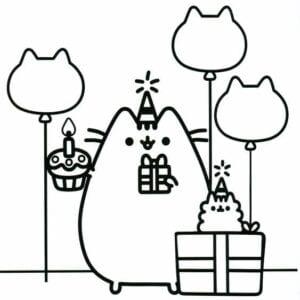 desenhos para colorir kawaiifesta de aniversario