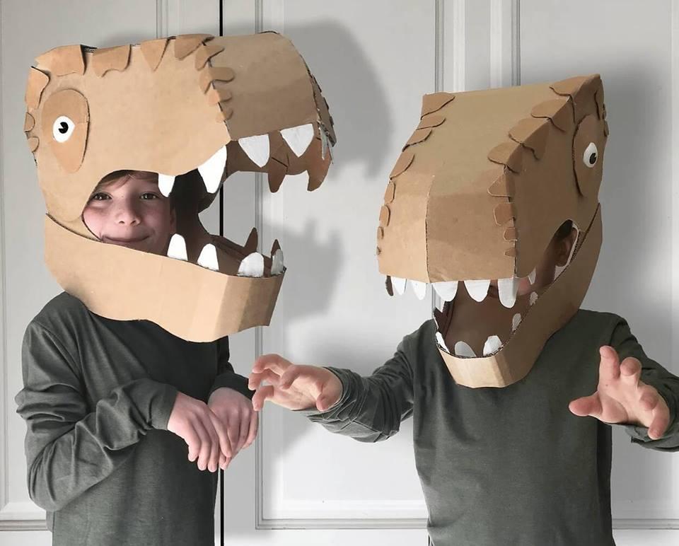fantasias de papelao dinossauro