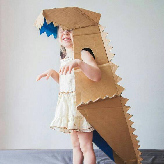 fantasias de papelao dragao