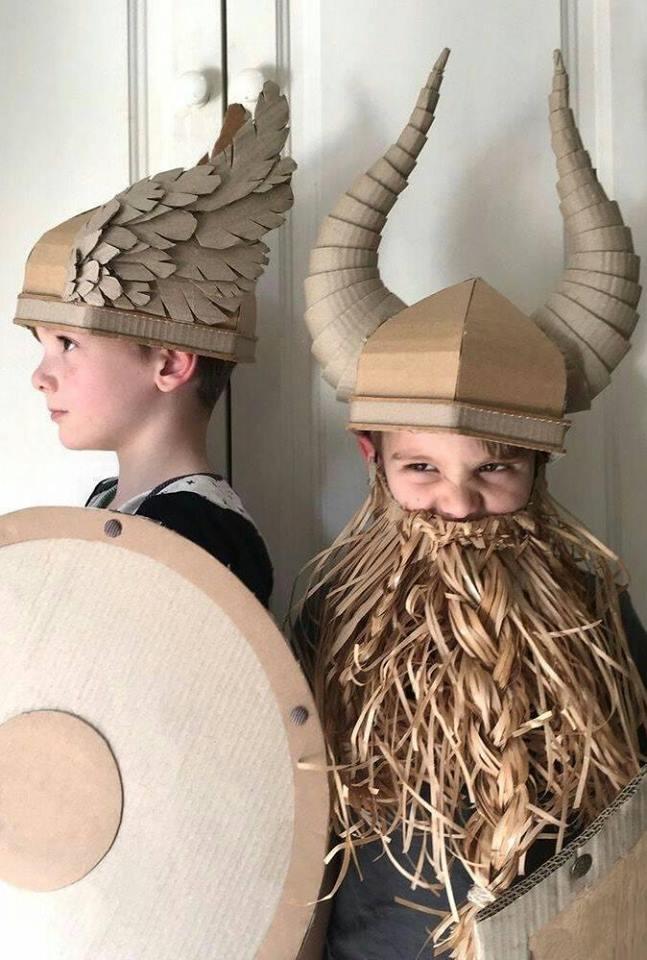 fantasias de papelao viking