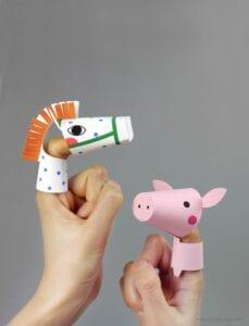 fantoches de dedos de animais da fazenda 03
