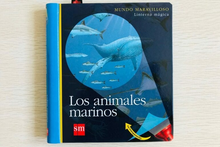 livro os animais marinhos com lanterna