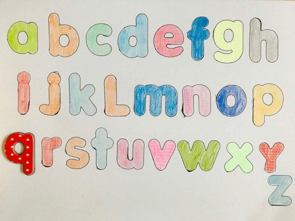 pareamento de letras do alfabeto 1