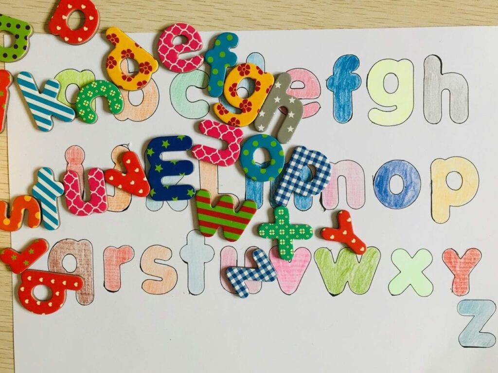 pareamento de letras do alfabeto 6